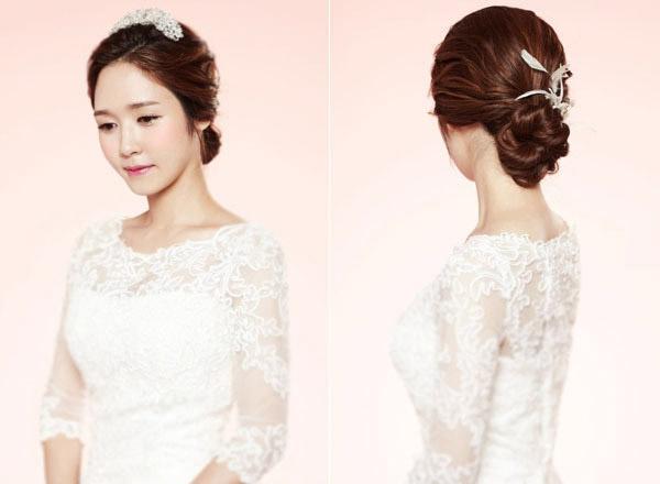 2 kiểu tóc cô dâu đẹp hút hồn