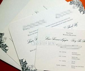Xuất hiện thiệp cưới của Tăng Thanh Hà
