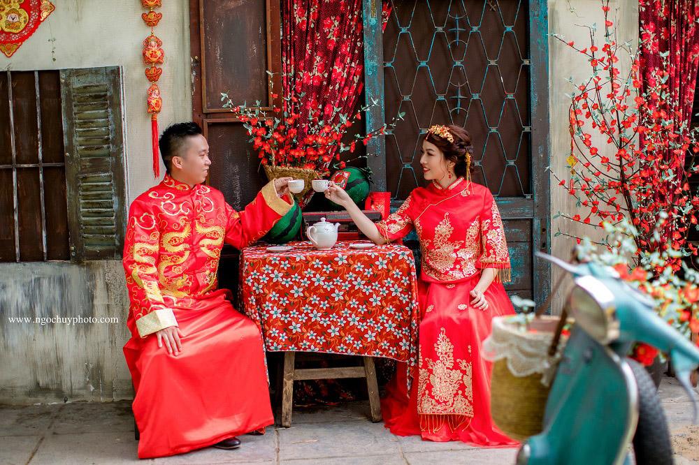 Chụp ảnh cưới phong cách Trung Hoa đẹp