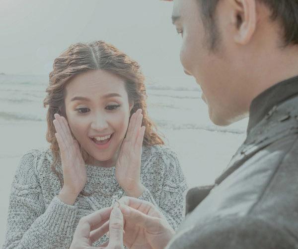 Bộ ảnh cưới đẹp như mơ của ca sĩ cặp đôi Anh Tâm - Phương Hằng