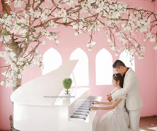 Ảnh cưới đẹp với tông màu trong trẻo, nhẹ nhàng