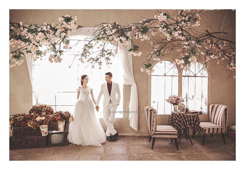 Ảnh cưới đẹp phim trường