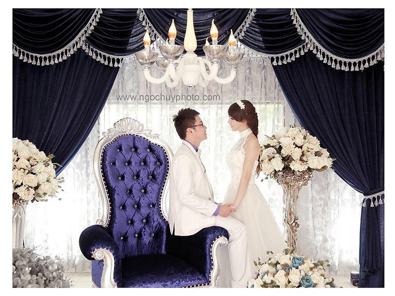 Ảnh cưới đẹp với tông màu trong