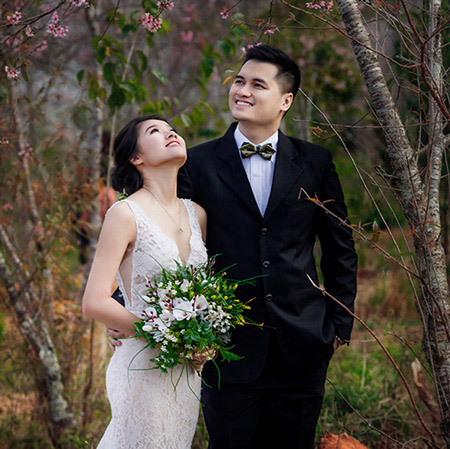 Đà Lạt - Thiên đường chụp ảnh cưới với hoa anh đào