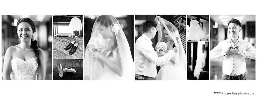 Ảnh cưới gam màu trắng đen đẹp