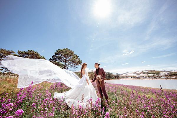 Ảnh cưới lãng mạn ở Đà Lạt của nàng stylist xinh đẹp