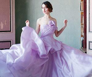 Áo cưới màu tím: Gam màu hot 2014
