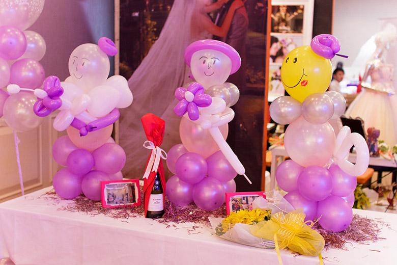 Bong bóng trang trí tiệc cưới
