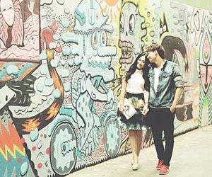 Chụp hình cưới nghệ thuật với Graffiti