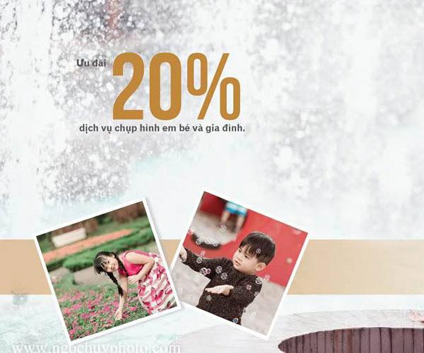 Lưu giữ khoảnh khắc hạnh phúc gia đình và trẻ thơ tại ngoại cảnh và phim trường với Ngọc Huy