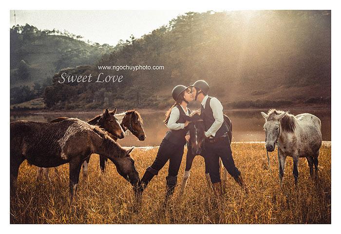 Cổ điển và lãng mạn với album cưới vintage