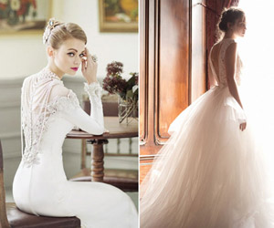 Đẹp kiêu sa với 20 mẫu váy cưới đính ngọc trai