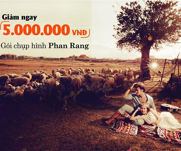 Giảm ngay 5.000.000Đ cho gói chụp hình cưới Phan Rang