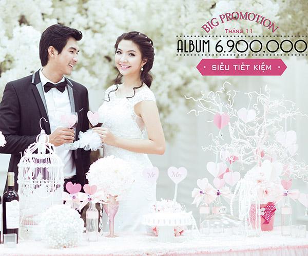Tháng 11: Gói chụp hình cưới siêu tiết kiệm tại Ngọc Huy Studio