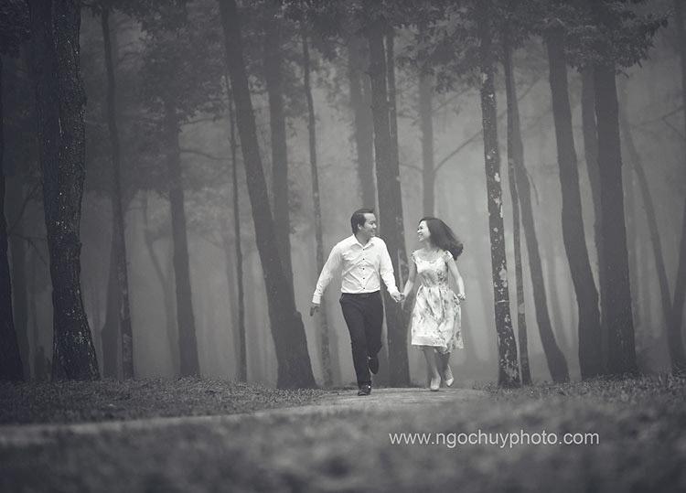 Ảnh cưới đen trắng: Góc nhỏ của những hoài niệm