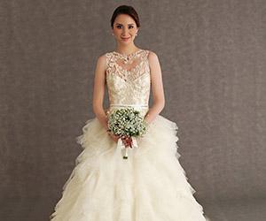 Kiểu áo cưới đẹp cho cô dâu nhỏ người