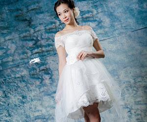 Kiểu áo cưới đẹp cho cô dâu thấp