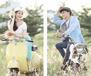 Mix trang phục khi chụp hình cưới ngoại cảnh