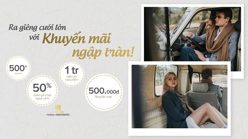 Khởi đầu hạnh phúc trọn vẹn cùng bộ ảnh cưới đẹp lung linh với giá kinh tế từ Ngọc Huy Studio - Thương hiệu chụp hình cưới uy tín, nổi tiếng 18 năm