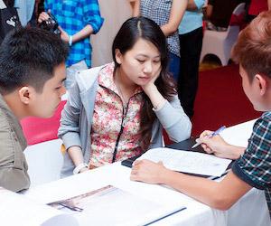 Ngọc Huy tại triển lãm cưới Movenpick Saigon