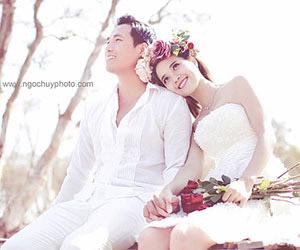 Siêu mẫu Quang Hòa trong album cưới do Ngọc Huy thực hiện