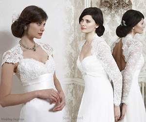 Xu hướng mới cho áo cưới ren