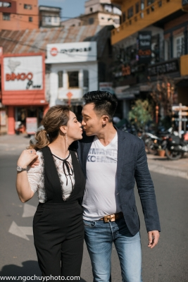 Chụp hình cưới ngoại cảnh quán cà phê Đà Lạt