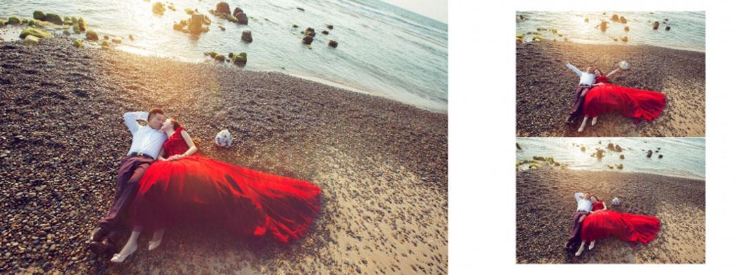 Hình cưới ngoại cảnh biển