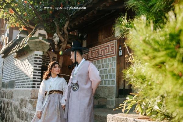 Chụp ảnh cưới  trang phục Hanbok đẹp